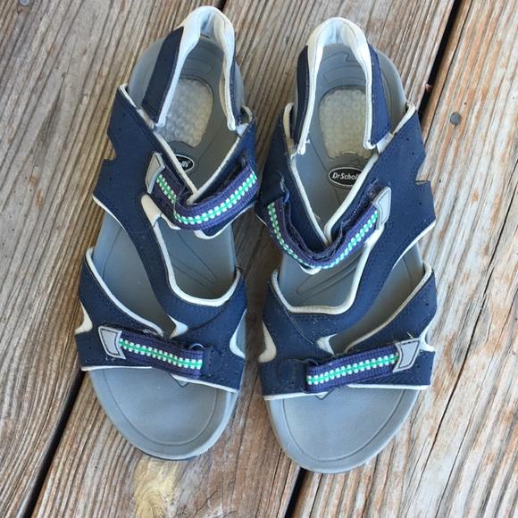 Dr Scholls Blue Velcro Sandals   Poshmark
